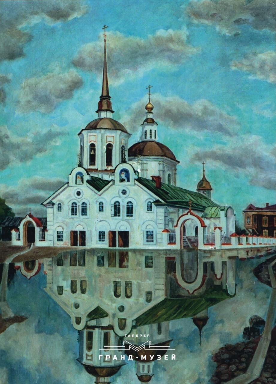 Половодье в Томске (Благовещенская церковь)