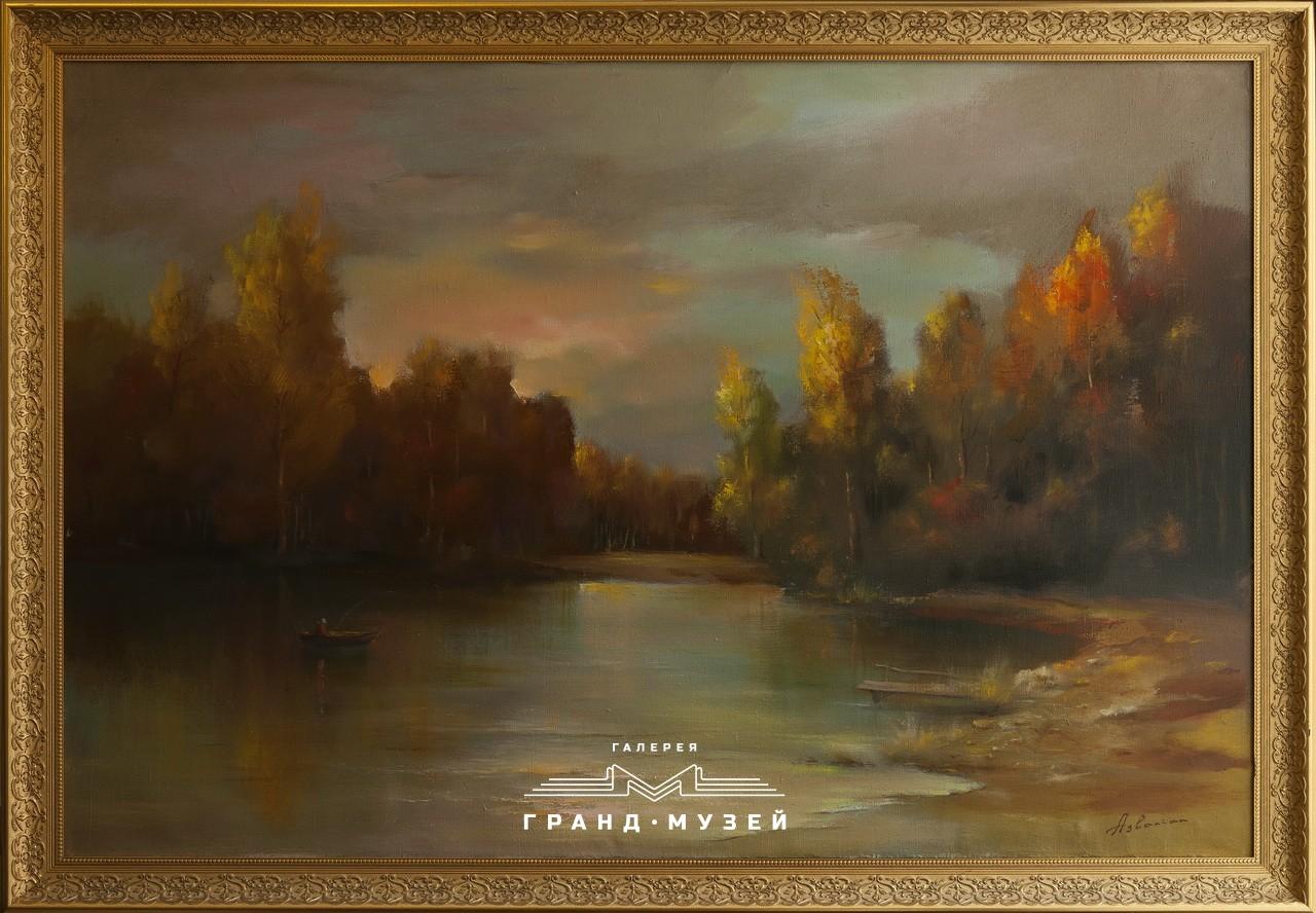 Осень. Рыбалка на озере