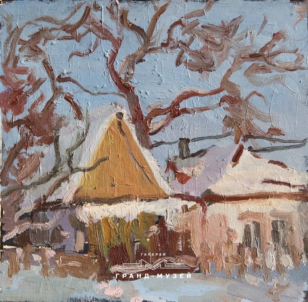 Зимний этюд в селе