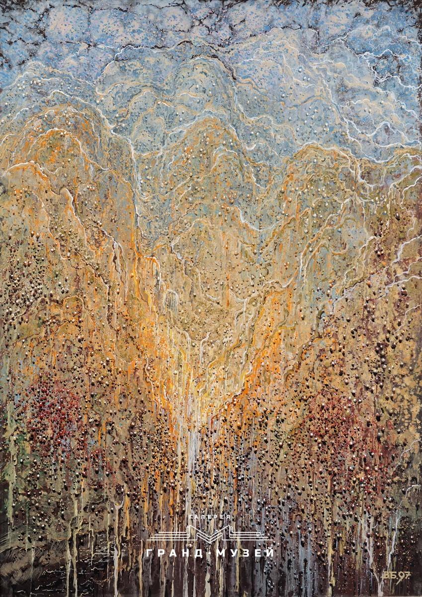 """Моя малая Родина (Природа, Времена года, Осень, Ноябрь, цикл: """"Воспоминания о Далеком Детстве""""). Триптих - 1 из 3"""